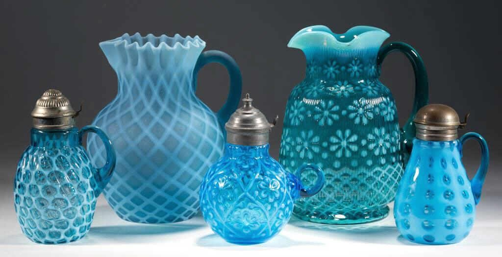 From a selection of opalescent glass