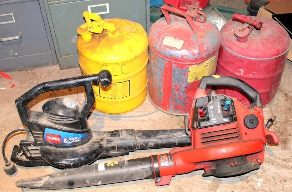Gas Cans, Leaf Blowers