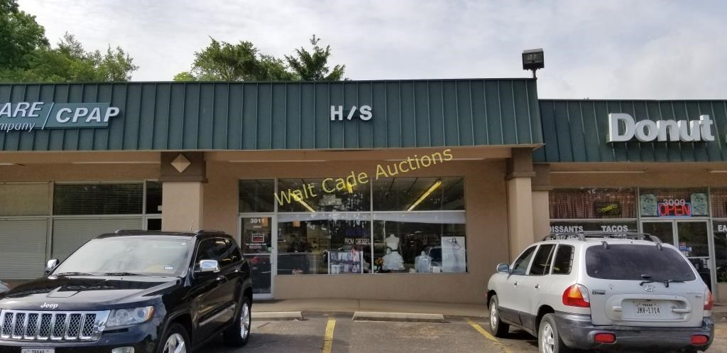 Online Absolute Auction - Bridal & Prom Boutique - Tyler, Tx