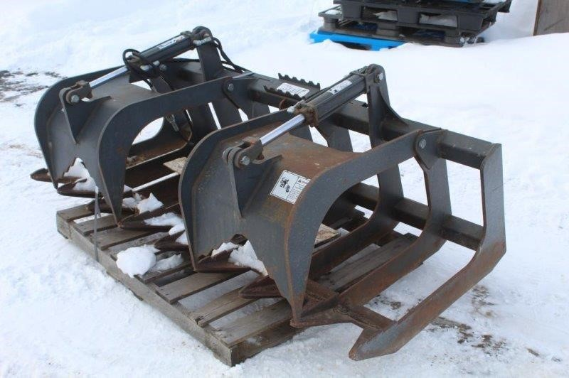"""Skid Steer Stout 72"""" Double Grapple"""