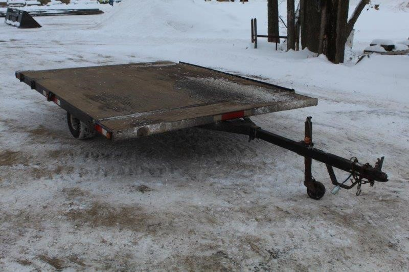 Tilt Bed Snowmobile Trailer