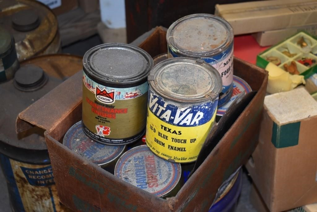 Boxes Old Texaco Paint