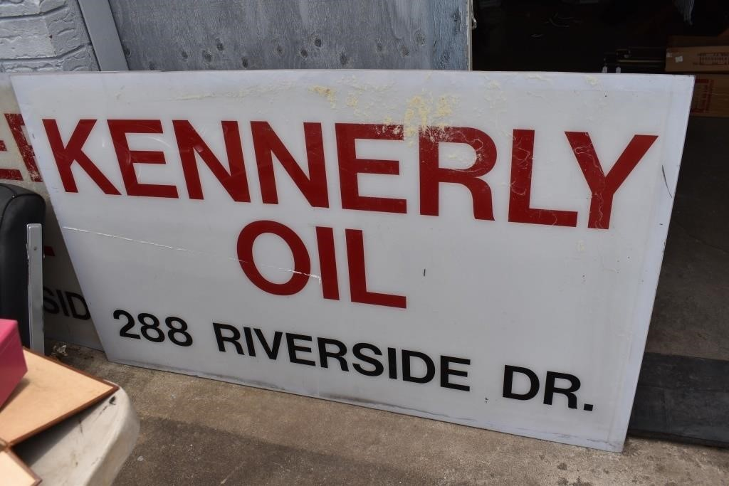Large Kennerly Oil Sign Asheville, NC