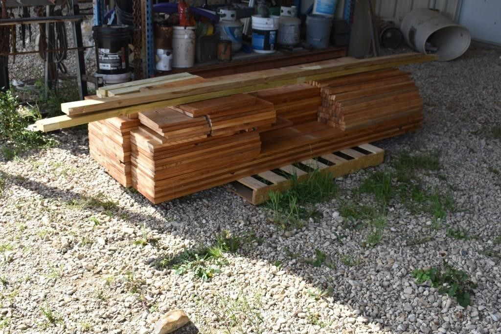 L- PALLET OF 1 BY BOARDS