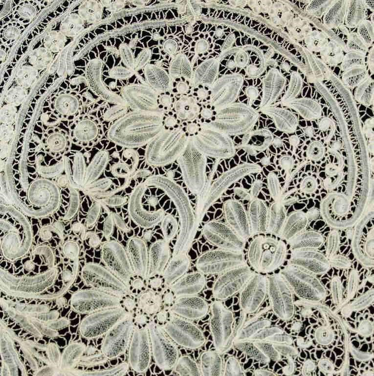 Large selection of Victorian and Edwardian lace yardage, doilies, and shawls