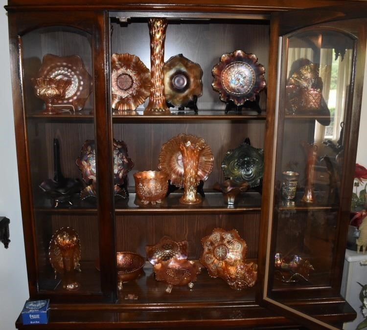 Large Group Carnival Glass