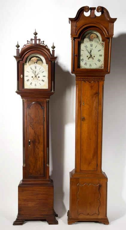 "From a fine selection of American tall-case clocks, including examples by Aaron Willard (Boston, MA), dial dated ""1793"", and John Fessler (Frederick, MD)"