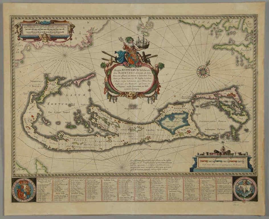 Willem Janzoon Blaeu map of Bermuda (c.1630), deaccessioned by the Colonial Williamsburg Foundation with proceeds to benefit the Collections and Acquisitions Funds