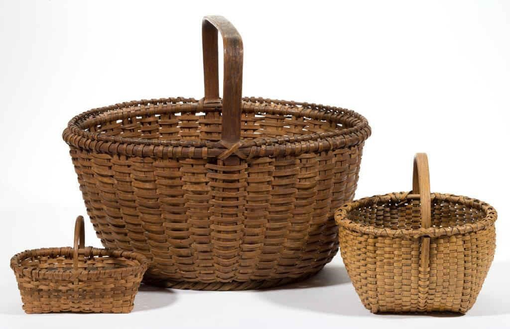 Large selection of Valley of Virginia and Southern woven-splint baskets