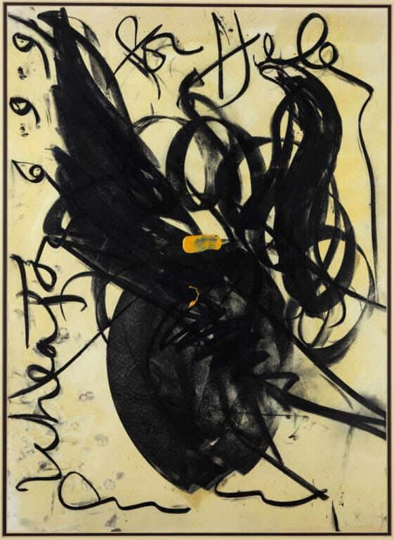Dale Chihuly original painting, signed and dated, gifted to the consignor, fresh to the market