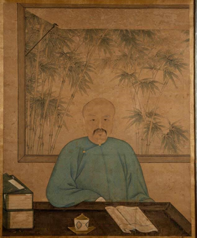 Late18th/early 19th-century Chinese watercolor portrait of a man