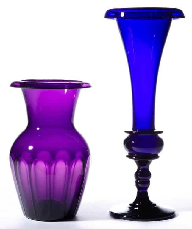Colored free-blown articles.