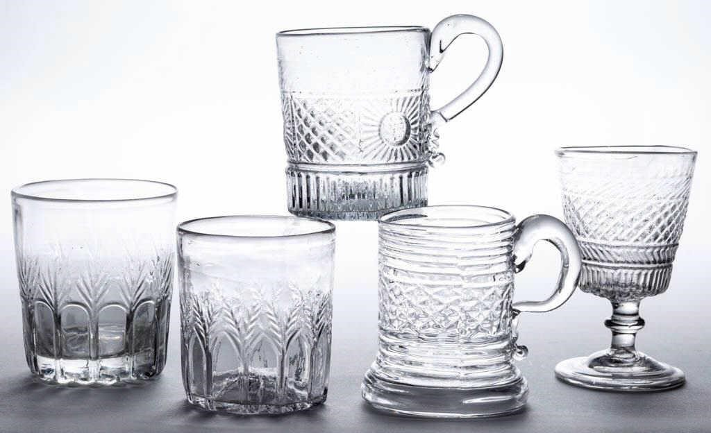 Selection of three-mold articles.