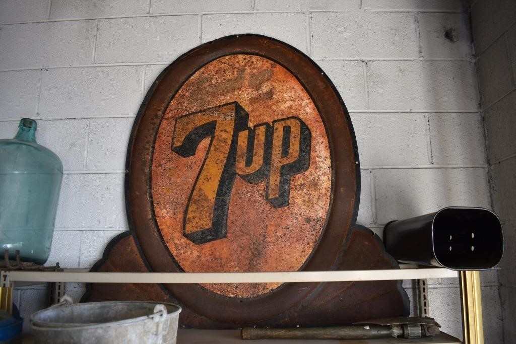 Large 7up Metal Sign