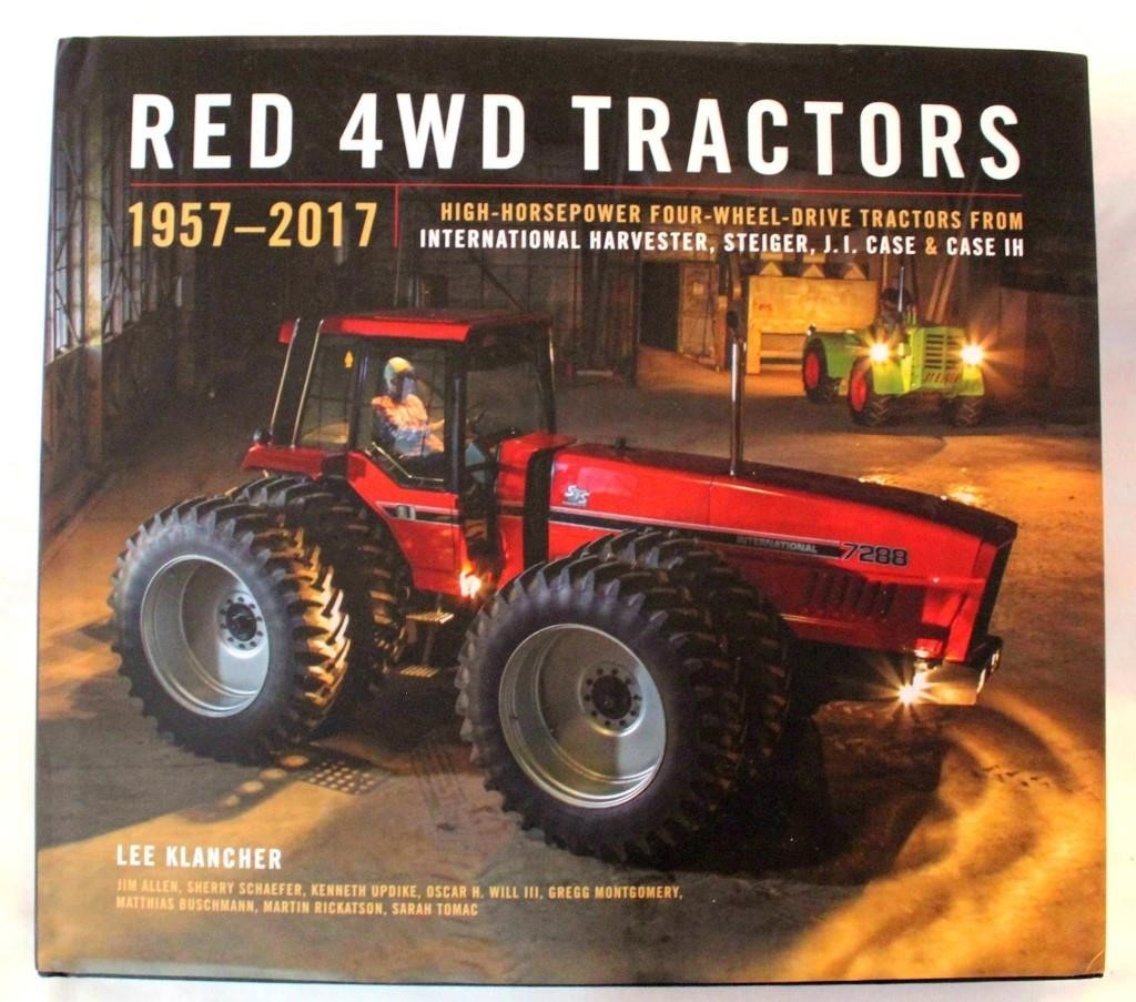 1957-2017 4WD Tractor Book, signed by Lee Klancher, 384 pgs (High HP 4WD Tractors from Int Harvester, Steiger, J.I. Case & Case IH);