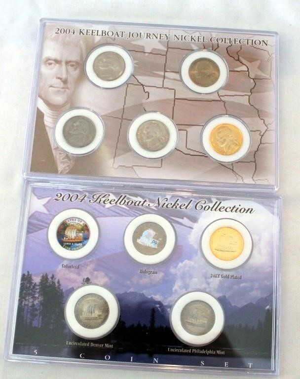 (2)  2004 Keelboat Nickel Collections