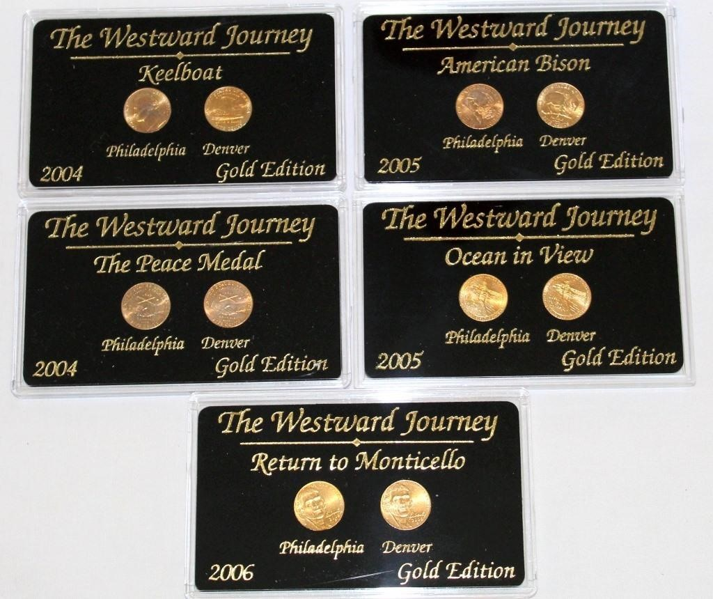 (5) Westward Journey Comm Coin Sets (Gold Edition)