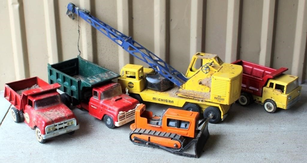 Old Toy Trucks, some need repair