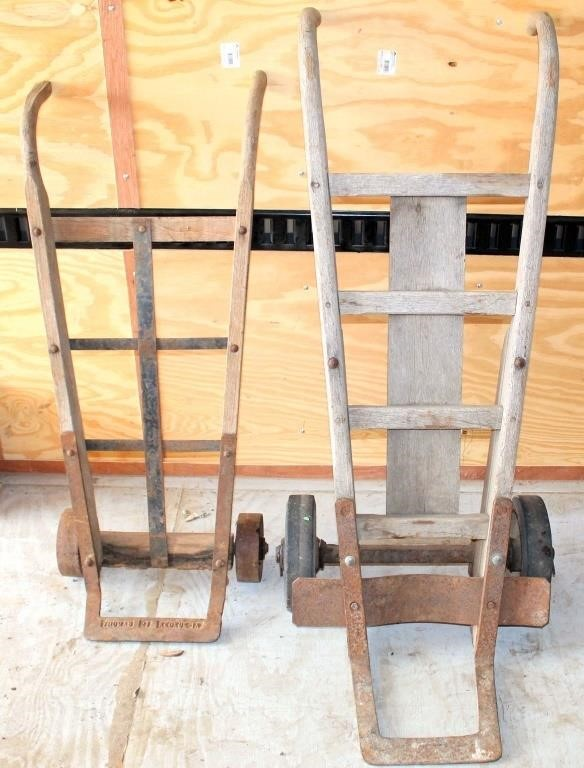 (2) Wood Dollys/Hand Carts
