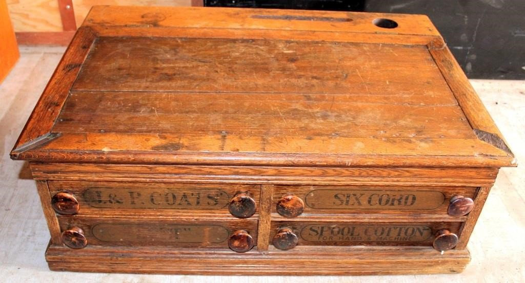 Antique Spool Cabinet (view 1)