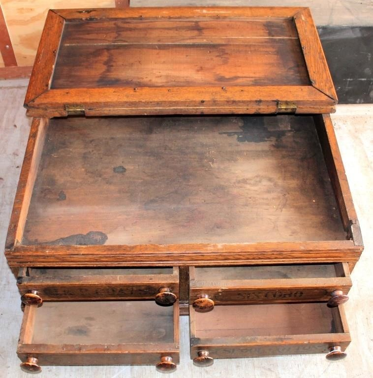 Antique Spool Cabinet (view 2)