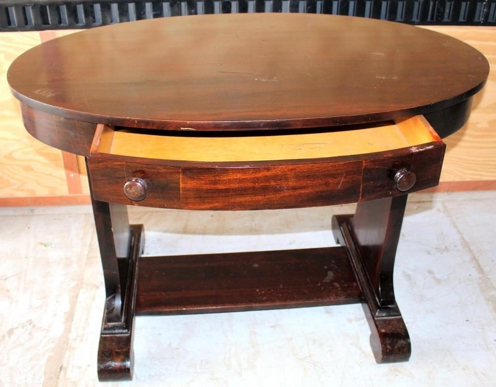 Antique Oval Table w/Drawer