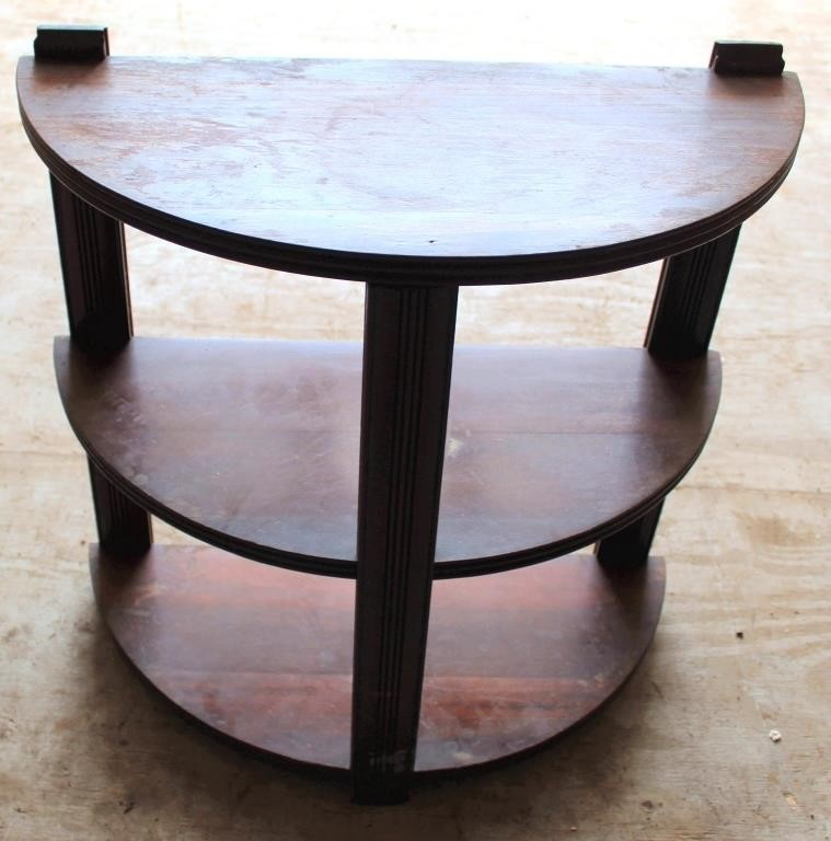 Small Half-Round Side Table
