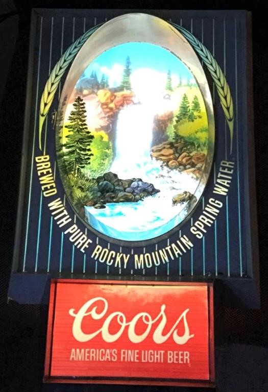 Lighted Coors Wall Hanging