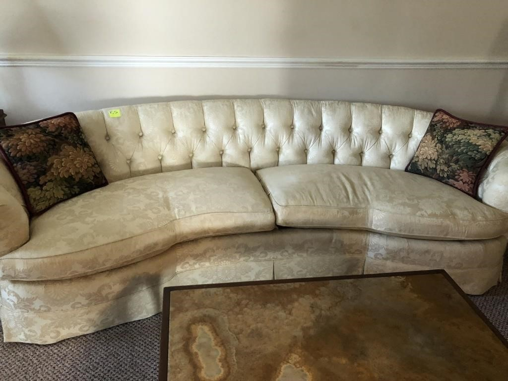 Curved Couch White