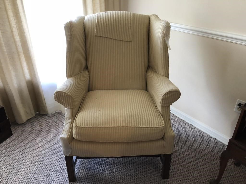 Cream Wing Back Chair (2)