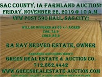 Sac County, IA Farmland Auction