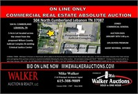 504 N. Cumberland Lebanon TN Commercial Lot On Line Only Auc