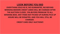 Downsizing Online Auction